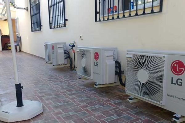 A LG Multi Split Installation.